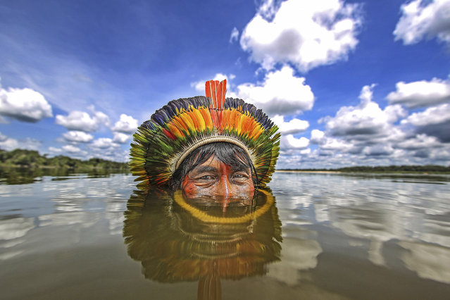 Bej indian in the Xingu river, state of Mato Grosso, Brazil on December 20, 2015 .(Photo by Ricardo Stuckert/Caters News Agency)