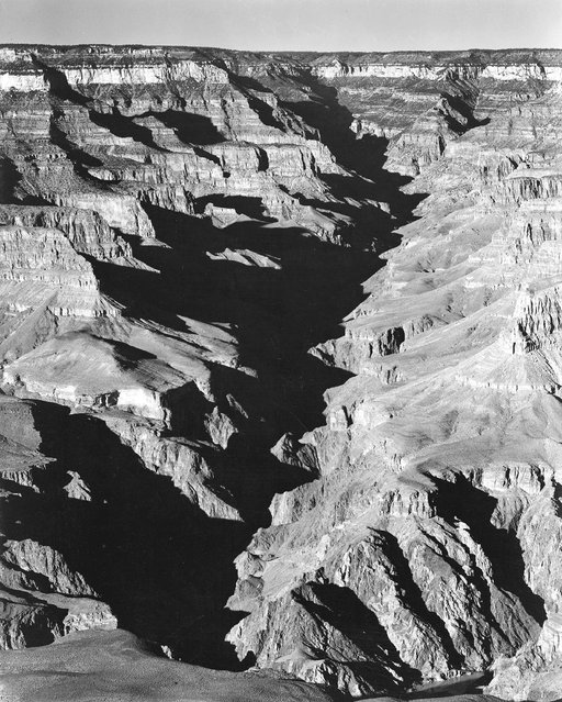 """Grand Canyon from South Rim, 1941, Arizona"". (Photo by Ansel Adams)"