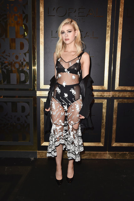 American actress Nicola Peltz attends the Gold Obsession Party – L'Oreal Paris : Photocall as part of the Paris Fashion Week Womenswear Spring/Summer 2017 on October 2, 2016 in Paris, France. (Photo by Pascal Le Segretain/Getty Images)