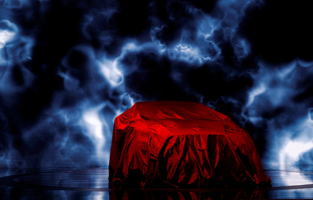 The 2019 Nissan Altima sits covered before being presented at the New York Auto Show in the Manhattan borough of New York City, New York, U.S., March 28, 2018. (Photo by Brendan McDermid/Reuters)