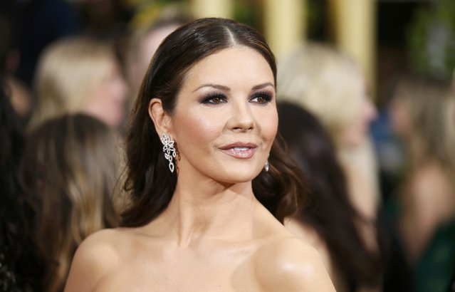 Actress Catherine Zeta Jones arrives at the 72nd Golden Globe Awards in Beverly Hills, California January 11, 2015. (Photo by Danny Moloshok/Reuters)