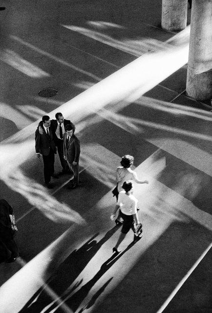 "The Ministry of Health Building, Rio de Janeiro, Brazil, 1960, by Rene Burri. ""The building was designed by architect Lúcio Costa's team, which included Oscar Niemeyer. (Photo by Rene Burri/Magnum Photos)"