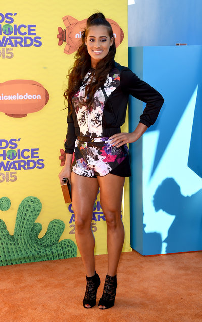 Basketball player Skylar Diggins attends Nickelodeon's 28th Annual Kids' Choice Awards held at The Forum on March 28, 2015 in Inglewood, California. (Photo by Jason Merritt/Getty Images)