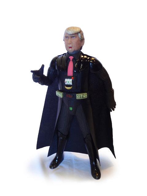 Donald Trump as Darth Vadar. (Photo by Mike Leavitt/Rex USA)