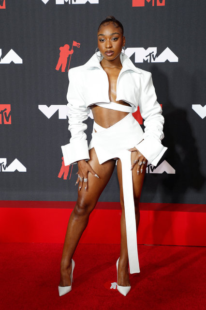 American singer and dancer Normani attends the 2021 MTV Video Music Awards at Barclays Center on September 12, 2021 in the Brooklyn borough of New York City. (Photo by Astrid Stawiarz/WireImage)