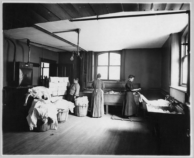 Women work at a laundry, circa 1905, in this Library of Congress handout photo. (Photo by Reuters/Bain Collection/Library of Congress)