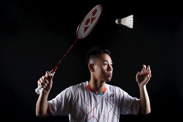 Badminton player Howard Shu poses for a portrait at the U.S. Olympic Committee Media Summit in Beverly Hills, Los Angeles, California March 8, 2016. Shu said he liked listening to Lil Wayne, Drake, and J. Cole to prepare for competition. (Photo by Lucy Nicholson/Reuters)