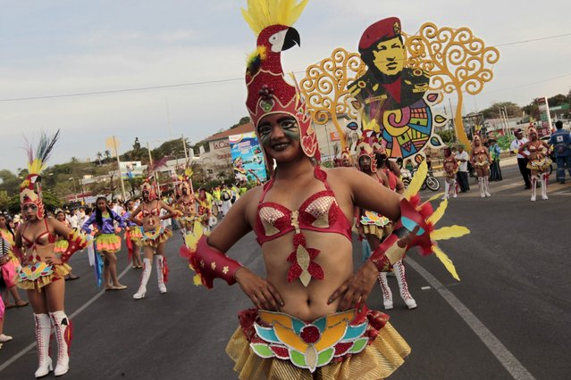 "Revelers take part in a parade during an annual carnival called ""Alegria por la Vida"" (Joy for life) in Managua April 25, 2015. (Photo by Oswaldo Rivas/Reuters)"