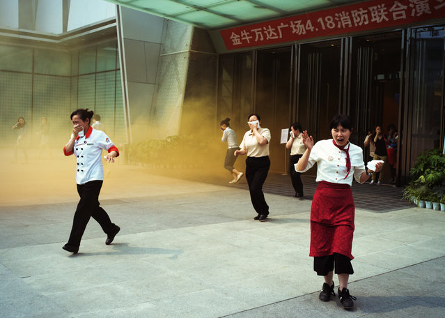 """""""Fire drill, China, 2013"""". (Photo by TyKroh)"""