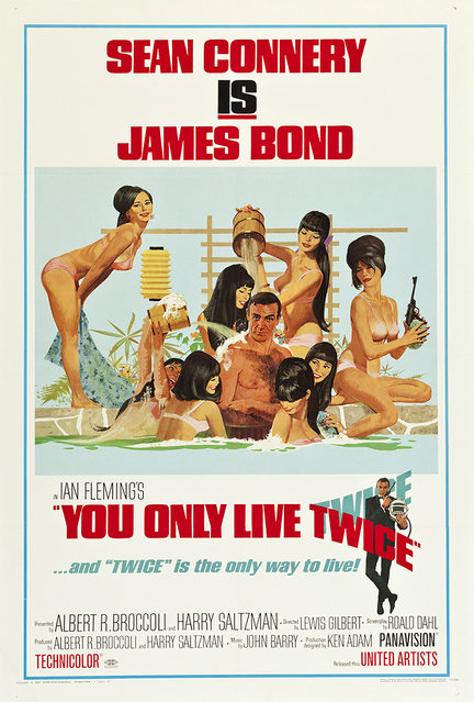 """You Only Live Twice (United Artists, 1967). One Sheet (27.5"""" X 41"""") Style C featuring art by Robert McGinnis. Estimate: $600 - $1,200 (Photo by Courtesy Heritage Auctions)"""