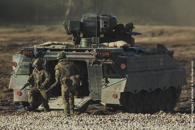German Bundeswehr soldiers with a Marder infantry combat vehicle