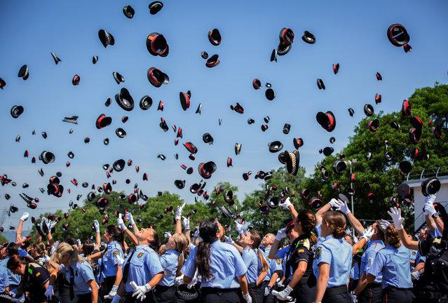 Graduation act of 804 agents in the Institut de Seguretat Pública de Catalunya on June 19, 2019 in Barcelona, Spain. (Photo by David Zorrakino/Europa Press News/Europa Press via Getty Images)