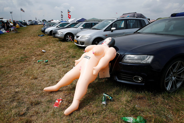 A sеx toy is pictured at the camp site of the world's largest heavy metal festival, the Wacken Open Air 2019, in Wacken, Germany on August 2, 2019. (Photo by Wolfgang Rattay/Reuters)