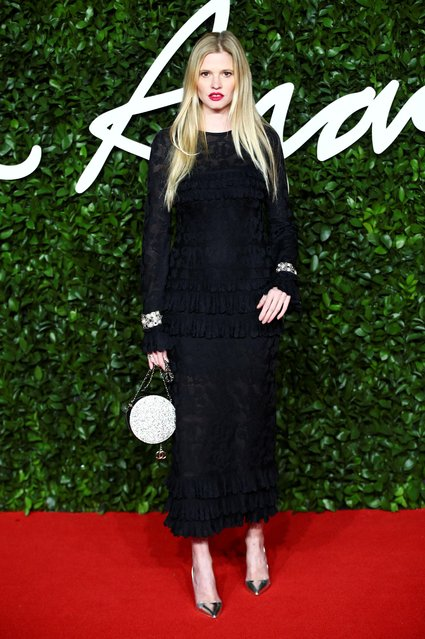 Model Lara Stone arrives at The Fashion Awards 2019 held at Royal Albert Hall on December 02, 2019 in London, England. (Photo by Lisi Niesner/Reuters)