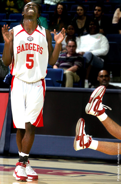 Brian Hill of Tucson High School grimaces after committing a critical foul on a Mountain View player late in the game at the MLK Classic held at McKale Center, Jan. 21, 2008 in Tucson, Ariz