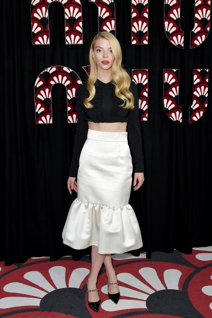 Anya Taylor-Joy attends the Miu Miu show as part of the Paris Fashion Week Womenswear Fall/Winter 2020/2021 on March 03, 2020 in Paris, France. (Photo by Dominique Charriau/WireImage)