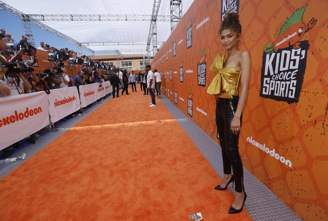 Actress Zendaya arrives at the Kids Choice Sport 2016 awards in Los Angeles, California U.S., July 14, 2016. (Photo by Mario Anzuoni/Reuters)
