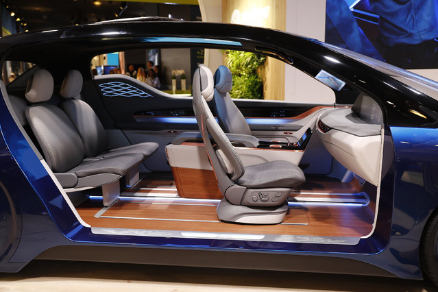 An interior by Yanfeng Automotive is seen inside an autonomous vehicle displayed during the Frankfurt Motor Show (IAA) in Frankfurt, Germany September 11, 2017. (Photo by Kai Pfaffenbach/Reuters)