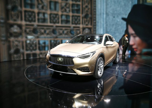An Infiniti Q30 is pictured during the media day at the Frankfurt Motor Show (IAA) in Frankfurt, Germany, September 15, 2015. (Photo by Kai Pfaffenbach/Reuters)