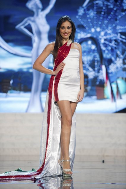 Miss Italy 2012, Grazia Pinto, performs onstage at the 2012 Miss Universe National Costume Show on Friday, December 14, 2012 at PH Live in Las Vegas, Nevada. The 89 Miss Universe Contestants will compete for the Diamond Nexus Crown on December 19, 2012. (Photo by AP Photo/Miss Universe Organization L.P., LLLP)