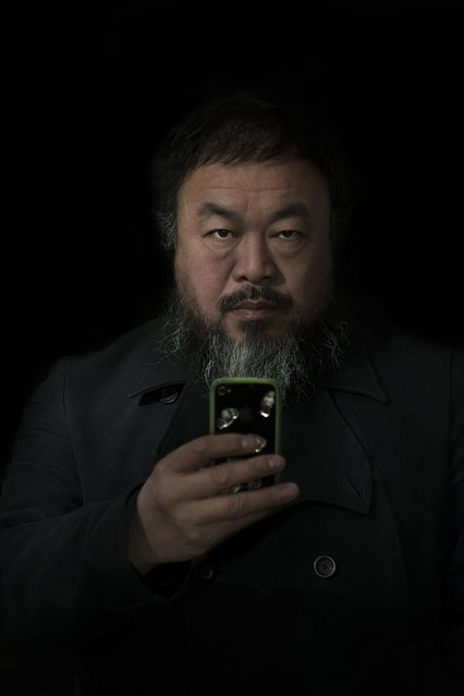 In this photo provided on Friday February 15, 2013 by World Press Photo, the 2nd prize Prize People – Staged Portraits Single by Stefen Chow, Malaysia, for Smithsonian magazine, shows a portrait of Ai Wei Wei, Beijing, China, February 6, 2012. (Photo by Stefen Chow/AP Photo/Smithsonian magazine)