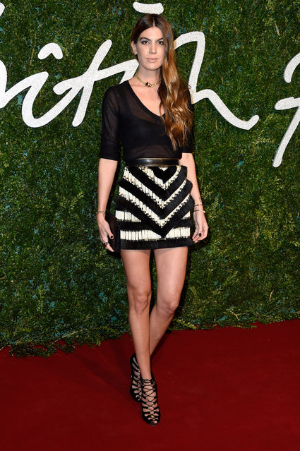 Bianca Brandolini d'Adda attends the British Fashion Awards at London Coliseum on December 1, 2014 in London, England. (Photo by Pascal Le Segretain/Getty Images)