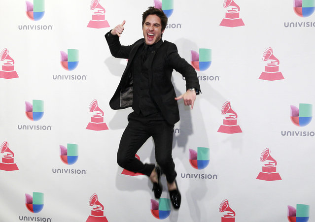 Singer Diego Boneta poses backstage at the 2015 Latin Grammy Awards in Las Vegas, Nevada November 19, 2015. (Photo by Steve Marcus/Reuters)