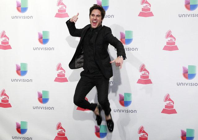 Singer Diego Boneta poses backstage at the 2015 Latin Grammy Awards in Las Vegas, Nevada November 19, 2015. (Photo by Steve Marcus/Reuters)