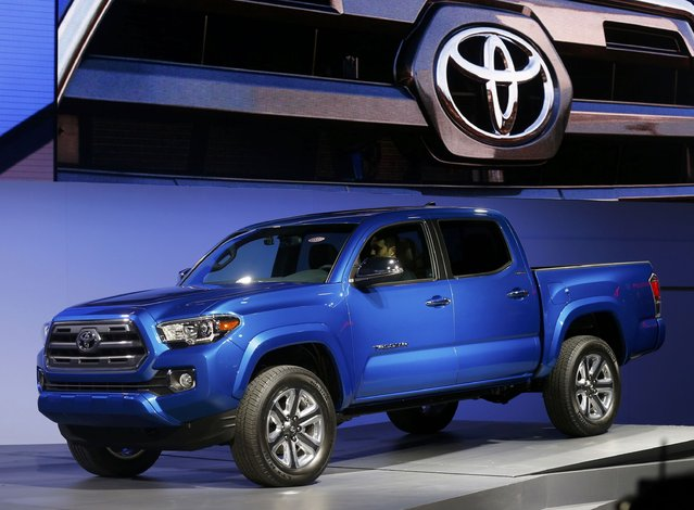 The 2016 Toyota Tacoma pickup truck is unveiled during the first press preview day of the North American International Auto Show in Detroit, Michigan, January 12, 2015. (Photo by Mark Blinch/Reuters)