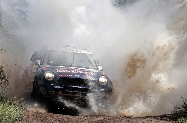 Mini driver Nasser Al-Attiyah of Qatar drives during the 12th stage of the Dakar Rally 2015 from Termas de Rio Hondo to Rosario January 16, 2015. (Photo by Jean-Paul Pelissier/Reuters)