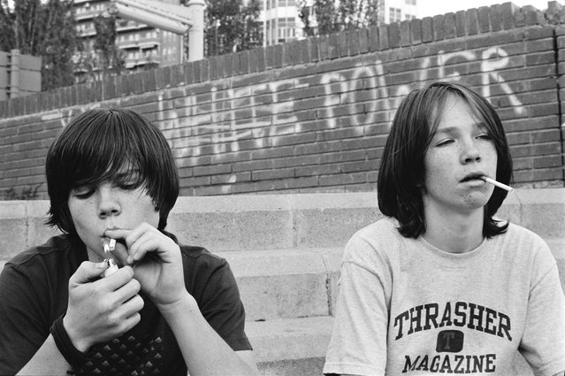 Kevin and Bryan, Barcelona, Spain, 2002. (Photo by Ed Templeton/Robert & Tilton Gallery, Culver City)