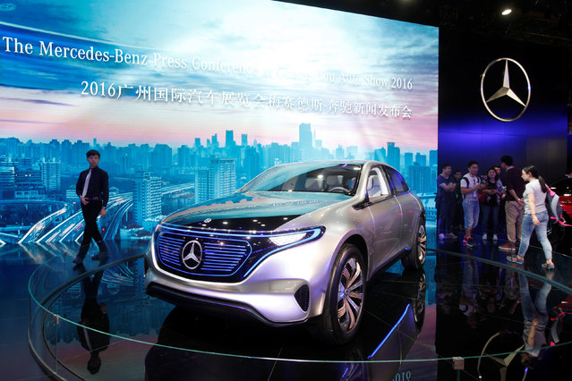 A Mercedes-Benz EQ is shown at China (Guangzhou) International Automobile Exhibition in Guangzhou, China November 18, 2016. (Photo by Bobby Yip/Reuters)