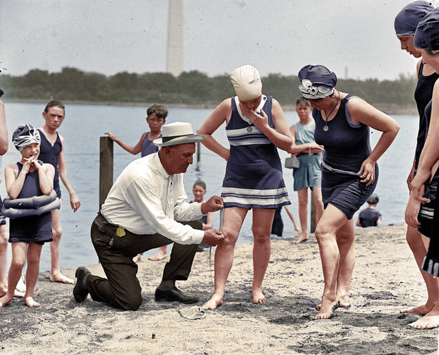 Beach Policeman, Potomac River, 1922.