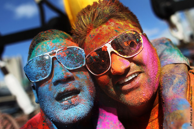 Indian Festival Of Holi Celebrated In Manhattan