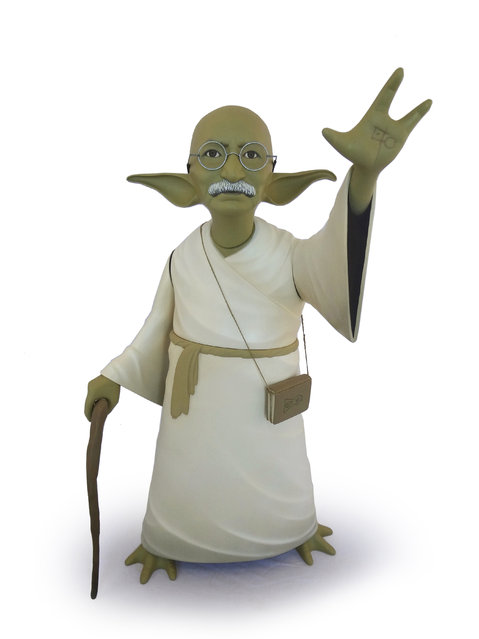 Gandhi as Yoda. (Photo by Mike Leavitt/Rex USA)