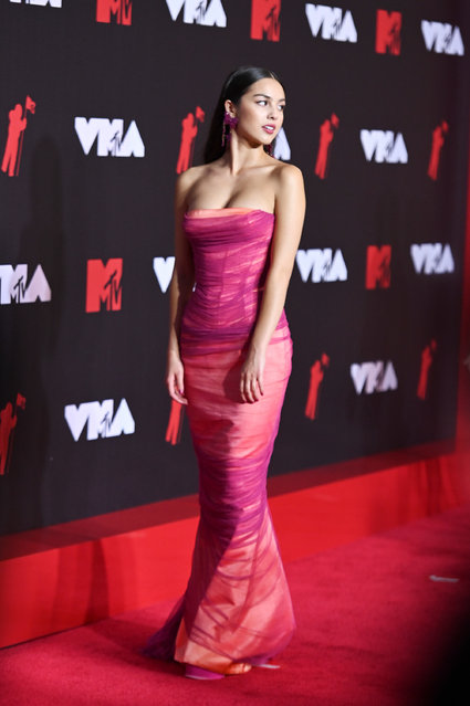 American singer-songwriter and actress Olivia Rodrigo attends the 2021 MTV Video Music Awards at Barclays Center on September 12, 2021 in the Brooklyn borough of New York City. (Photo by Noam Galai/Getty Images for MTV/ViacomCBS)
