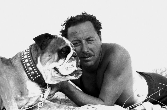 The US playwright Tennessee Williams at Tor San Lorenzo, south of Rome, in 1955. (Photo by Paolo Di Paolo/National Museum of 21st Century Arts)