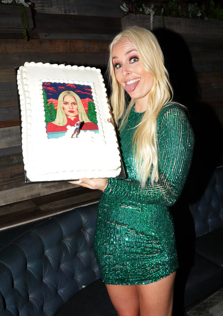 Lindsey Vonn attends Red Bull's Celebration of Lindsey Vonn at Liaison Restaurant on July 09, 2019 in Los Angeles, California. (Photo by Tiffany Rose/Getty Images for Red Bull)