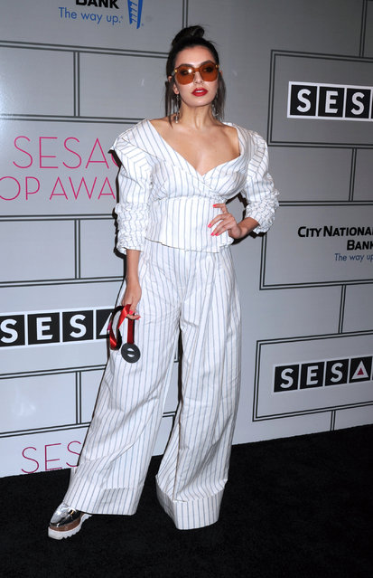 Charlie XCX arrives at the Sesac 2017 Pop Awards in New York City, New York on April 13, 2017. (Photo by Photo Image Press/Splash News and Pictures)