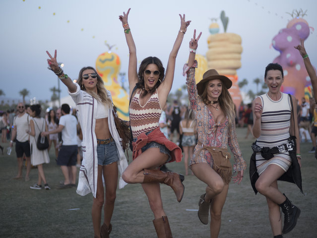 Alessandra Ambrosio seen at Coachella on April 15, 2017 in Indio, California. (Photo by Timur Emek/GC Images,)