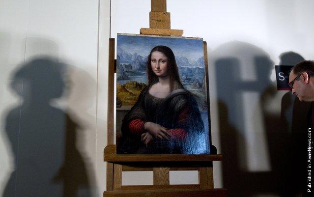 An authenticated contemporary copy of Leonardo da Vinci's Mona Lisa on display at the Prado Museum