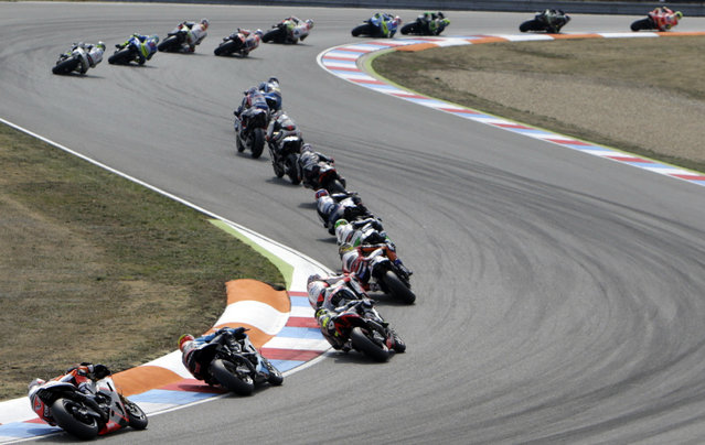 MotoGP motorcyclists compete in the Czech Grand Prix in Brno, Czech Republic, August 16, 2015. (Photo by David W. Cerny/Reuters)