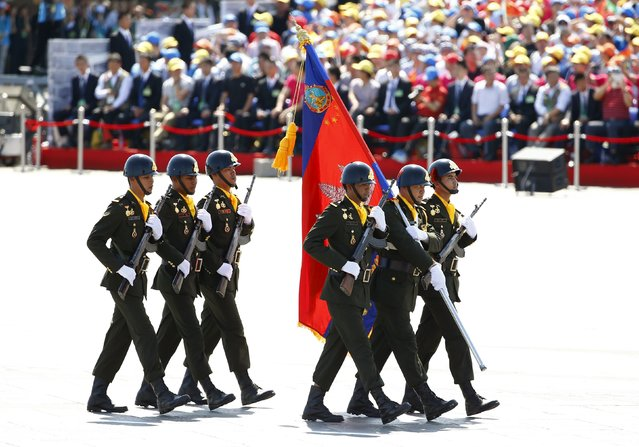 Cambodian soldiers march during the military parade marking the 70th anniversary of the end of World War Two, in Beijing, China, September 3, 2015. (Photo by Damir Sagolj/Reuters)