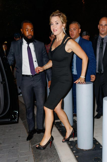 Actress Kate Winslet is seen walking in Soho on September 26, 2017 in New York City. (Photo by Raymond Hall/GC Images)