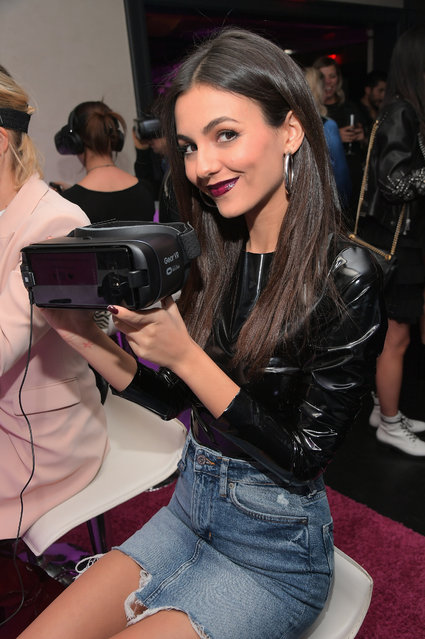 Actor Victoria Justice at the NYX Professional Makeup and Samsung VR Launch Party at Beauty & Essex on December 14, 2017 in Los Angeles, California. (Photo by Charley Gallay/Getty Images for NYX Professional Makeup)