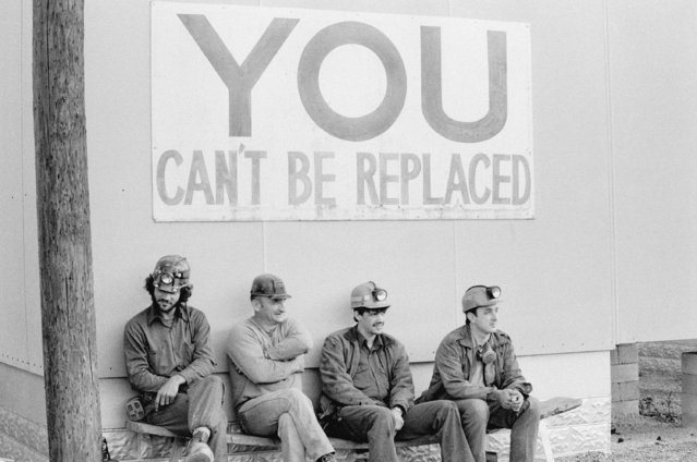 """When immigrant labor was cheap, some coal companies took the view that miners were easy to replace. Today, as this sign indicates, the health and safety of miners have become important concerns in the coalfields"". Pike County, Kentucky, 1979. (Photo by Nan E. Elliot)"