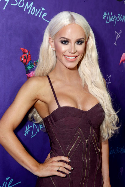 """Gigi Gorgeous seen at Lionsgate Premiere of """"Dirty 30"""" at ArcLight Cinemas on Tuesday, September 20, 2016, in Los Angeles. (Photo by Steve Cohn/Invision for Lionsgate Home Ent./AP Images)"""