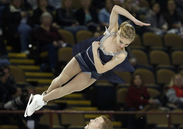 Tarah Kayne and Daniel O'Shea of the U.S. perform during the pairs free skate program at the Skate America figure skating competition in Milwaukee, Wisconsin October 24, 2015. (Photo by Lucy Nicholson/Reuters)