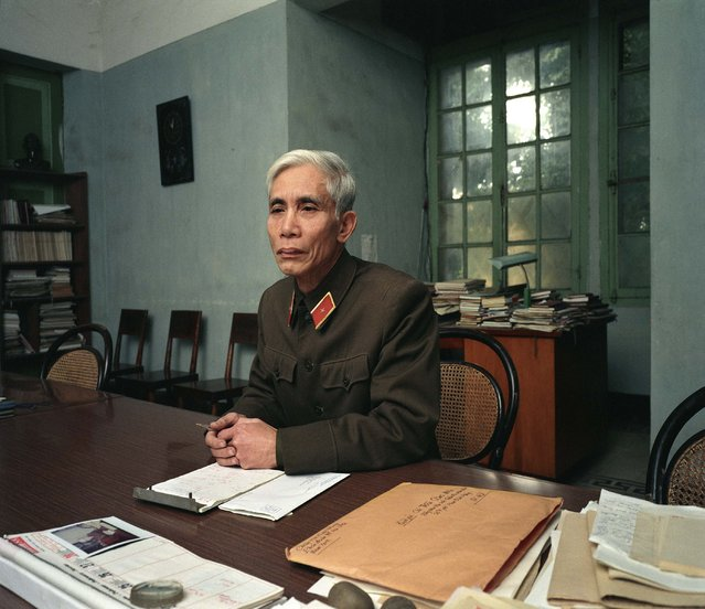 "Major General Trần Công Mân (Editor, Army newspaper), 1988. (Photo by  William E. Crawford from the book ""Hanoi Streets 1985-2015: In the Years of Forgetting"")"