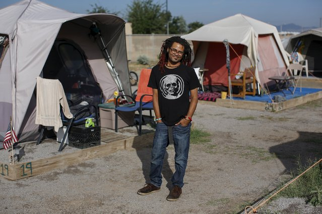 At homeless encampments from Seattle, Washington state to Las Cruces, New Mexico, residents live away from the dangers of life on the streets, saying the stability helps them work towards their goals. (Photo by Shannon Stapleton/Reuters)